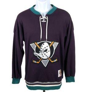 Vintage Anaheim Ducks First Logo Jersey Sweatshirt